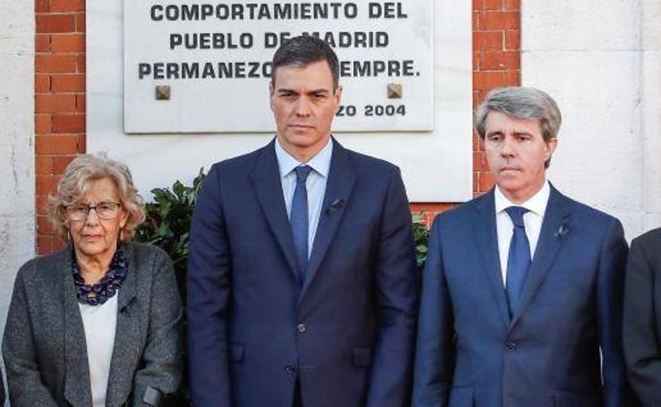 Las imágenes de la conmemoración del 11-M en Madrid