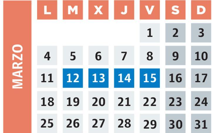 Calendario de movilizaciones en la red concertada