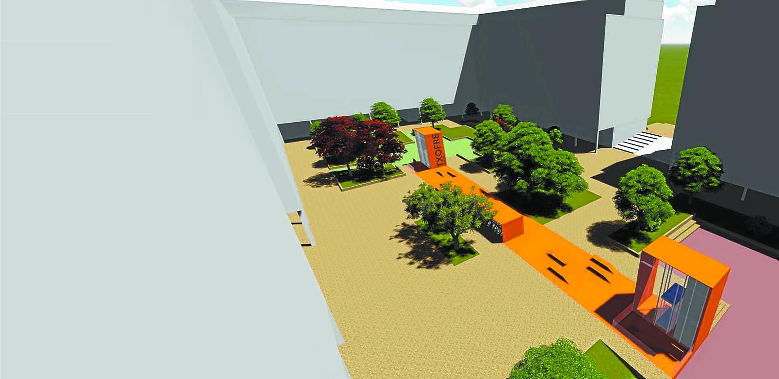 Dos núcleos de ascensores para el parking del Txofre