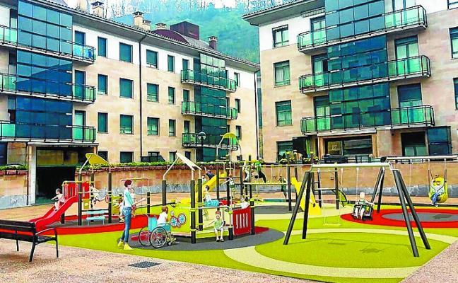 Iniciada la reforma del parque infantil de Iurre