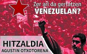 Incidentes por la charla organizada por Sortu en torno a Venezuela
