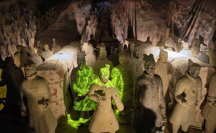 Inaugurada la exposición de los Guerreros de Terracota