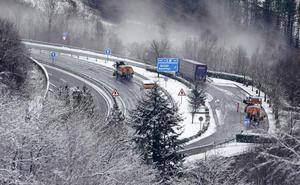 Aviso amarillo este lunes en el interior de Euskadi por nieve a 700 metros