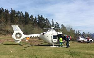 Evacuado en helicóptero tras sufrir una parada cardiorrespiratoria en el monte Kalamua de Eibar