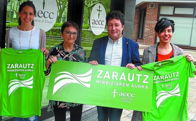 Zarautz se mueve contra el cáncer con varias actividades