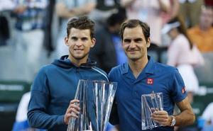 Thiem remonta a Federer y logra el mayor título de su carrera