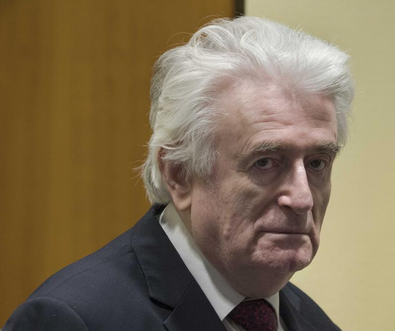 El tribunal de La Haya condena a Karadzic a cadena perpetua por el genocidio en Srebrenica