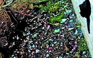 Hay preocupación por los vertidos de basura al río Oria