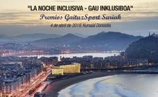El Kursaal acogerá el 4 de abril la IV edición de 'La Noche Inclusiva' con la entrega de los Premios GaituzSport