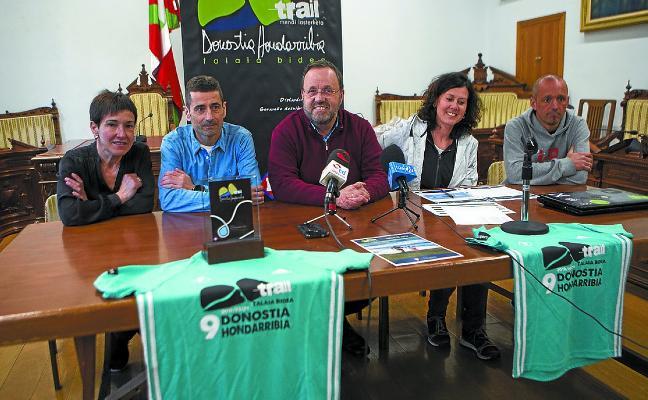 500 corredores, el domingo, en la novena 'Donostia-Hondarribia trail'