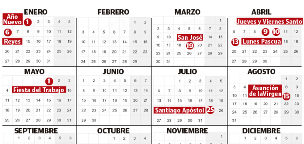 Calendario Laboral Pais Vasco 2019.Calendario Laboral El Diario Vasco