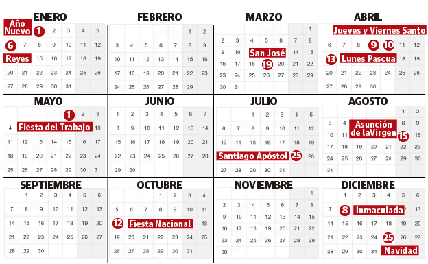 Calendario Laboral Construccion 2020.El Calendario Laboral De 2020 En Euskadi El Diario Vasco