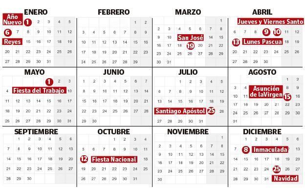 El calendario laboral y de festivos de 2020 en Euskadi | El Diario