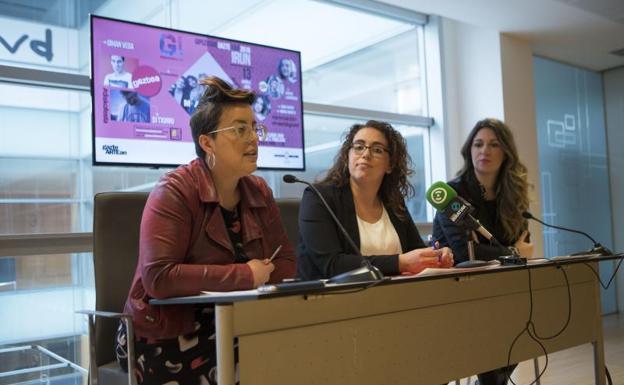 Goizane Álvarez, Mónica Martínez y Gemma González. / F. DE LA HERA