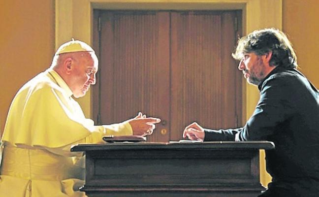 Jordi Évole, con el Papa