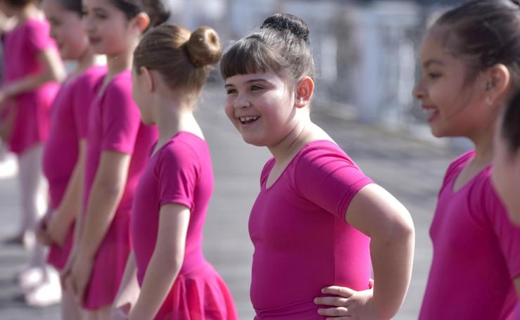 Ballet en la barandilla del Oria
