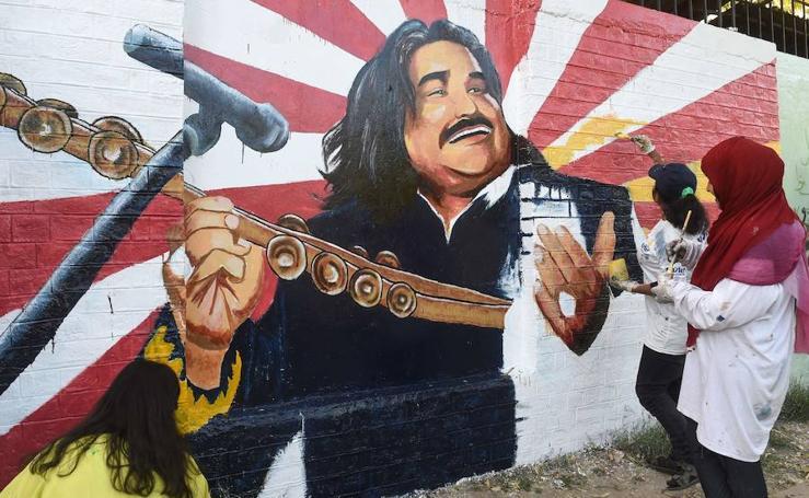 Concurso de arte urbano en Pakistán
