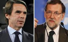 Aznar y Rajoy escenifican las dos almas del PP en la campaña electoral