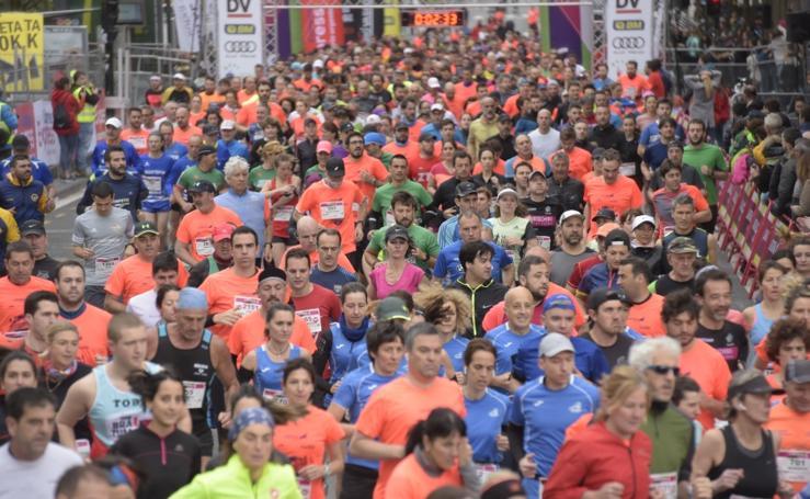 Media maratón de Donostia, en imágenes
