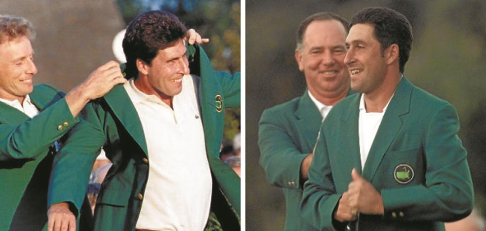 Olazabal: dos chaquetas verdes, dos emociones diferentes