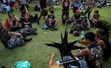 'Punks' en el festival de Año Nuevo de Myanmar