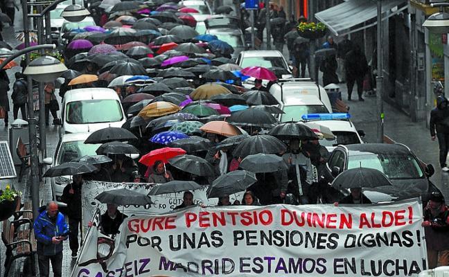 Eibar centraliza una nueva manifestación por las demandas de pensionistas