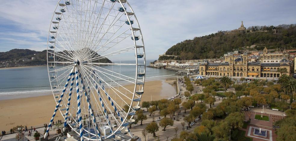 Una gran noria se volverá a instalar en San Sebastián durante la Semana Grande