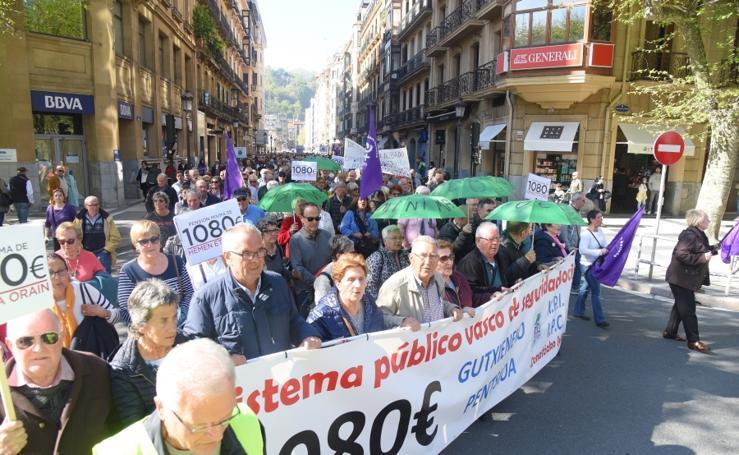 Los pensionistas vuelven a la calle