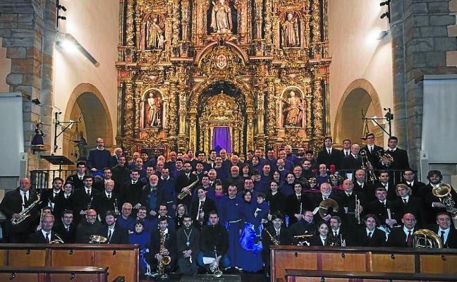 La Banda recupera el acompañamiento musical de las procesiones de Irun