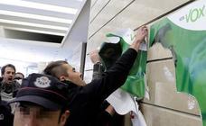 Tres detenidos por altercados durante una manifestación en protesta contra un acto de Vox en Bilbao