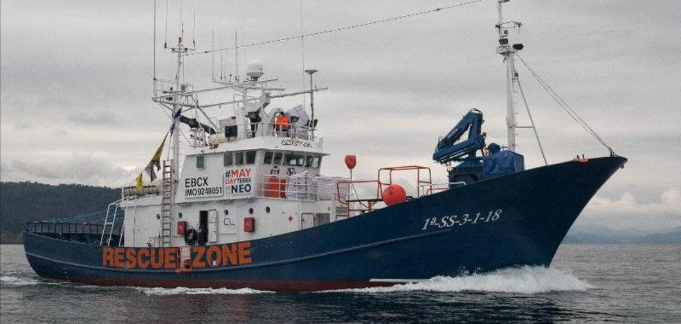 El 'Aita Mari' zarpa hacia Lesbos