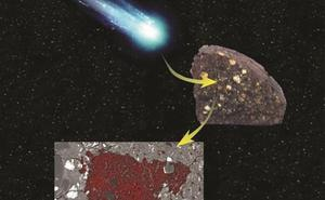 Sorpresa nunca vista dentro de un meteorito hallado en la Antártida