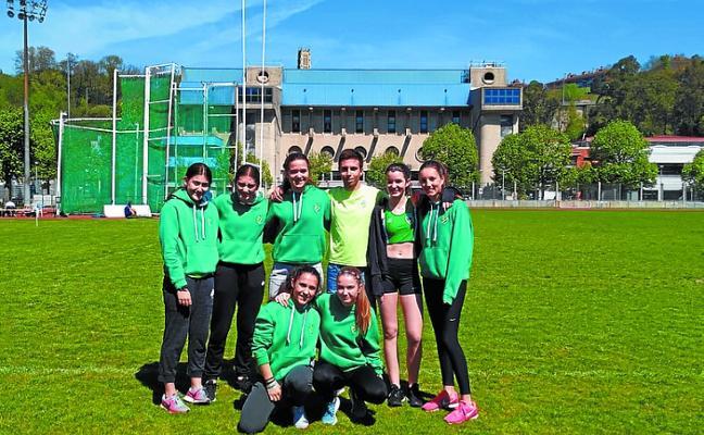 Buenos resultados en el campeonato de Gipuzkoa de menores en atletismo