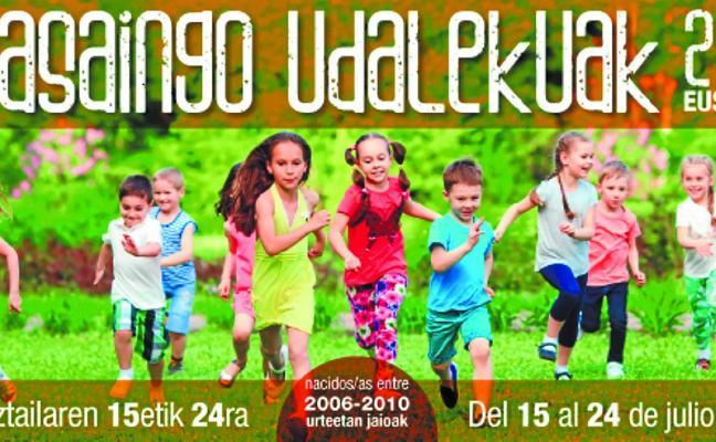 Urtxintxa elkartea y el Consistorio organizan unas colonias infantiles