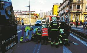 Dos heridos en un accidente en la Avenida de Navarra