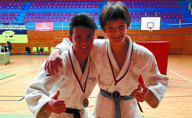 Una medalla de plata y otra de bronce en el Campeonato de Euskadi