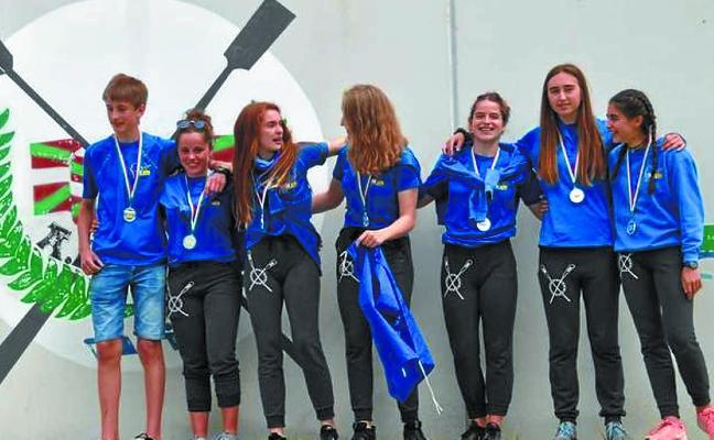 Dos medallas de plata y dos de bronce para el TAK-Oria en el Campeonato de Euskadi