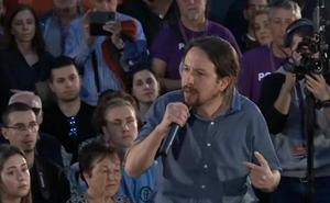Iglesias apela al voto progresista para que el PSOE no pacte con Cs, que tiene «discurso de extrema derecha»