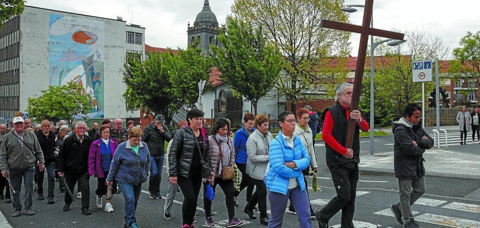Los actos religiosos reunieron un año más a los feligreses hernaniarras