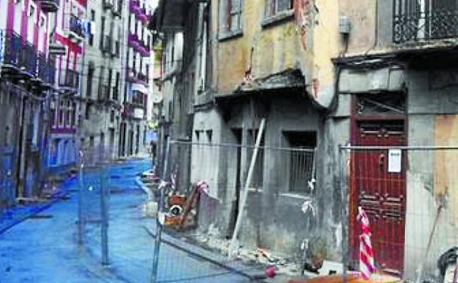 Los derribos de los edificios de Errebal empezarán el lunes 29