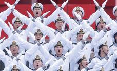 Espectacular actuación de la Marina del Ejército chino