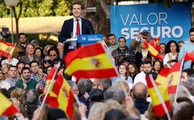 Casado dice que Pedro Sánchez está «negociando la sedición, la independencia y la autodeterminación»