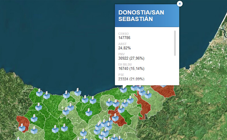 Elecciones 28-A: Votos por localidad