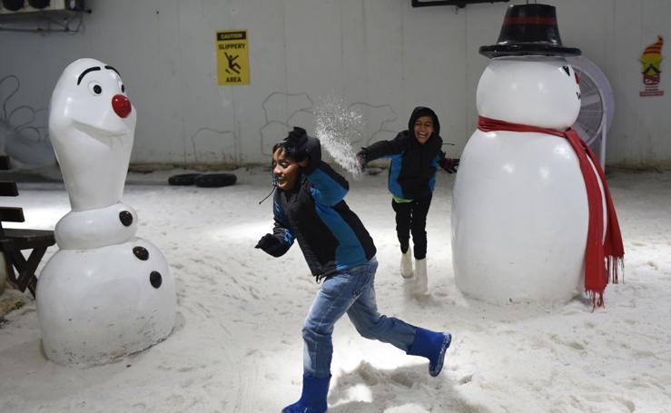 Un parque de nieve para combatir el calor