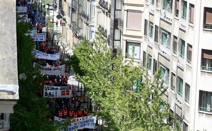 Manifestación de cazadores en Donostia