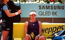 Muguruza revive sus pesadillas en Madrid