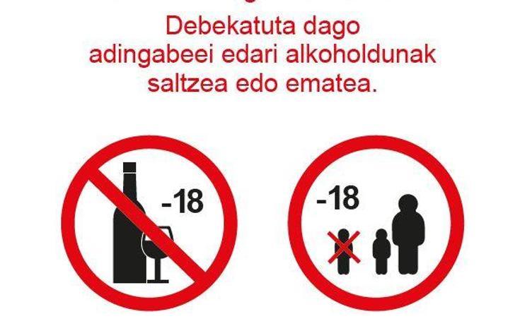 Las señales que prohibirán la entrada de menores a los bares