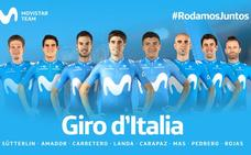 Mikel Landa encabeza el equipo del Movistar para el Giro