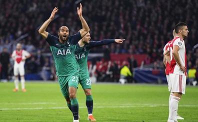 Lucas Moura desata la locura del Tottenham en Ámsterdam