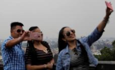'Selfies' con contaminación